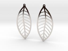 LEAF Earrings in Platinum