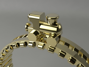 Train Nr1 Ring in Polished Brass: 7 / 54