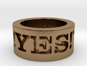 Yes! Ring Design Ring Size 8.5 in Natural Brass