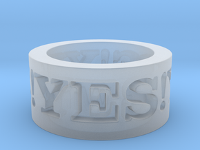 Yes! Ring Design Ring Size 8.5 in Smooth Fine Detail Plastic