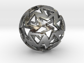12-star ball in Polished Silver