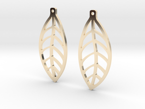 LEAF Earrings SMALL in 14K Yellow Gold