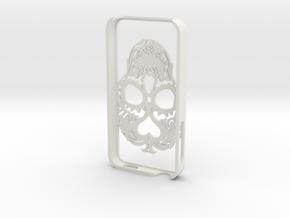 Iphone 4s Case Skull in White Natural Versatile Plastic