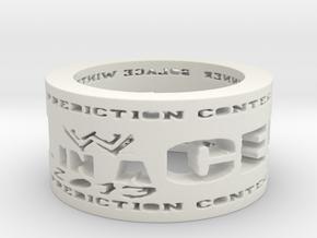 HIAC Prediction Winner Ring Ring Size 8.5 in White Natural Versatile Plastic