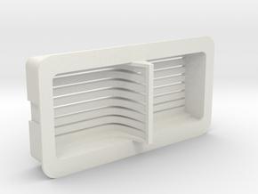 Cloud Car Engine Grill in White Natural Versatile Plastic