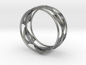 1000 BraceletBangle in Raw Silver