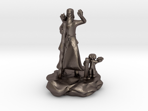Foodle, the Rock Gnome Hermit Sorcerer Mini in Polished Bronzed Silver Steel