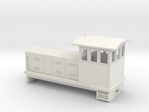 "HOn30 Endcab Locomotive (""Phoebe"") one p in White Strong & Flexible"