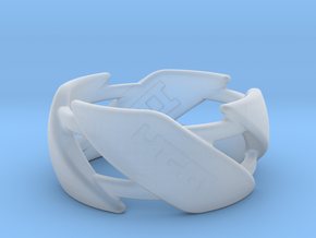 US10 Ring III in Smooth Fine Detail Plastic