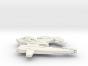 Asymp Ship 1 in White Natural Versatile Plastic