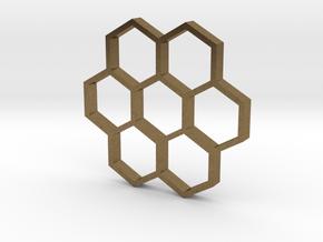 honeycomb pendant in Natural Bronze