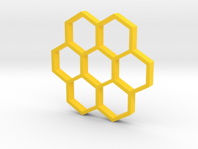 honeycomb pendant in Yellow Processed Versatile Plastic