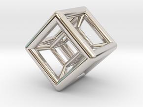 Hypercube Pendant in Platinum