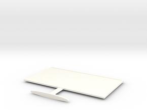 Billboard Miniature in White Processed Versatile Plastic