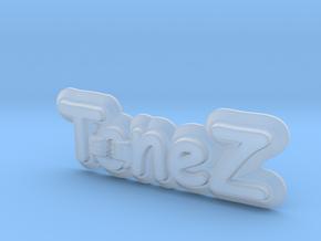ToneZ Plate - Comic Sans Edition in Smooth Fine Detail Plastic
