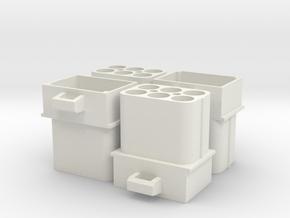 Replica Molex Connector C-1-163035 in White Natural Versatile Plastic
