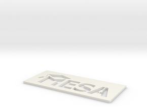 MESA Logo Stencil Large in White Natural Versatile Plastic