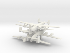 1/600 Consolidated B-24 Liberator in White Natural Versatile Plastic