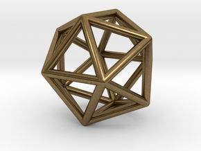 Icosahedron Pendant in Natural Bronze