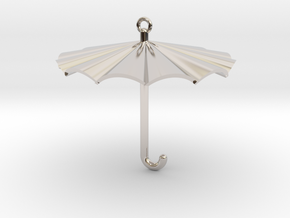 Umbrella Charm in Platinum