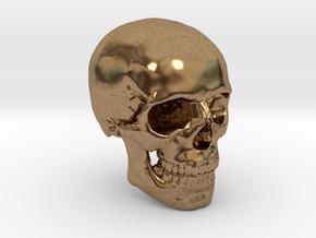 18mm 0.7in Human Skull Crane Schädel че́реп in Natural Brass