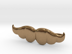 """Brazilian"" Moustache Tie Bar (Metals) in Natural Brass"