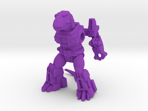 Terrifying Tyrannosaur in Purple Processed Versatile Plastic