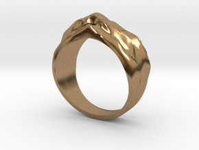 Sand Dune Ring in Natural Brass
