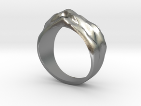 Sand Dune Ring in Raw Silver