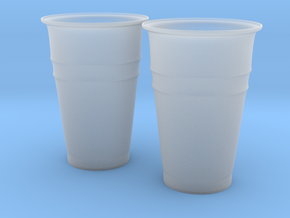 Plastic Cups in Smooth Fine Detail Plastic