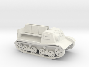 Komsomoletz Armored Tractor 1/87 (HO) scale in White Strong & Flexible