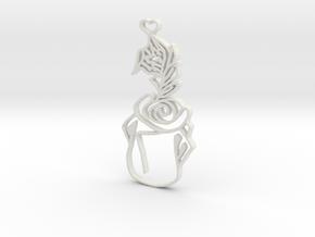 Fairy Tale Pendant in White Natural Versatile Plastic