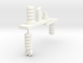 Koto Gatling Cannon Handle in White Processed Versatile Plastic