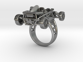 Atom Ring size 7 wo wings LHD in Raw Silver