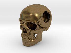 18mm .7in Bead Human Skull Crane Schädel че́реп in Natural Bronze