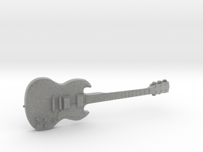 Gibson SG Guitar 1:18 in Metallic Plastic
