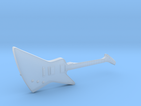 Gibson Explorer Guitar 1:18 in Smooth Fine Detail Plastic