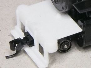 HOn30 switch pilot for 2-8-0 steam loco in White Strong & Flexible Polished