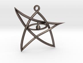 ElderSign Pendant in Polished Bronzed Silver Steel
