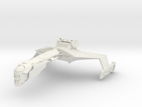 Klingon BattleCruiser in White Strong & Flexible