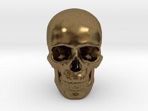 25mm 1in Human Skull Crane Schädel че́реп in Natural Bronze