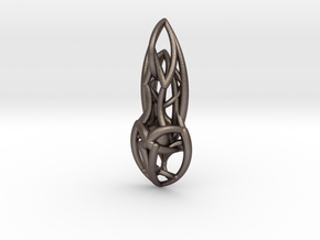 Flow Pendant in Polished Bronzed Silver Steel
