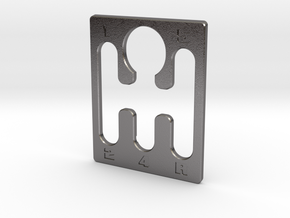 Pinball Plunger Plate - 5 Speed Gear Shift in Polished Nickel Steel