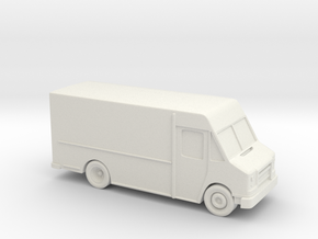 Delivery Truck 3.5 Inch in White Natural Versatile Plastic