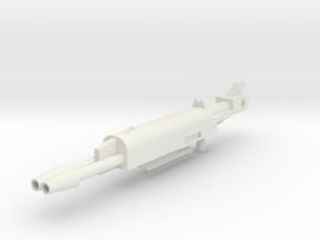 Generations Leader Class Skyfire G1 Rifle Huge in White Natural Versatile Plastic