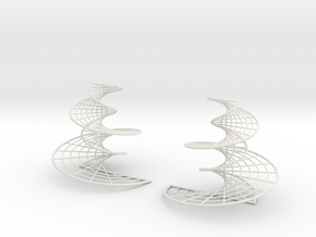 DNA earrings | 4 inches in White Strong & Flexible