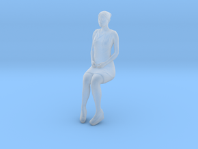 Woman Sitting 16th in Smooth Fine Detail Plastic