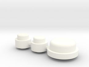 Button Group - Plastics in White Processed Versatile Plastic