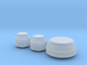 Button Group - Plastics in Smooth Fine Detail Plastic