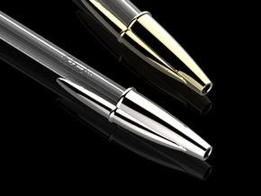METALBiC premium metal pen cap in Polished Brass
